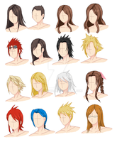 Hair Style Practice 2.0, p. 1 by ChaosSoda