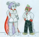 El Tigre style - Rarity and Spike by Jose-Ramiro
