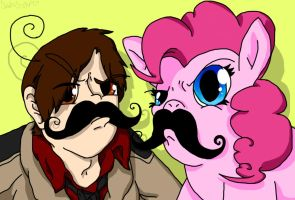 I Mustache You a Question by SaintsSister47