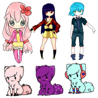 Adoptables 2- (free only for friends) -1 LEFT- by MitsukoBunny-chan