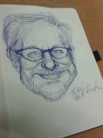 Not so bad drawn Spielberg by Contendo64