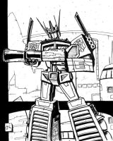 GoC Optimus Prime lines by dcjosh