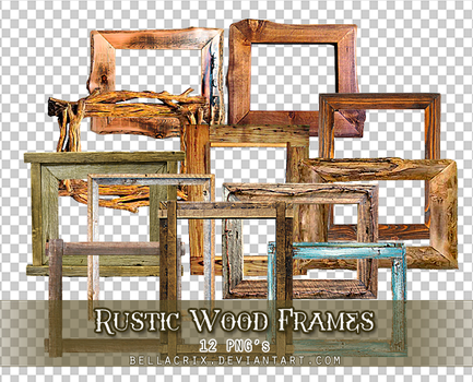 Rustic Wood Frames PNGs by Bellacrix