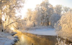Winter Morning On River Wide by Aarekaz