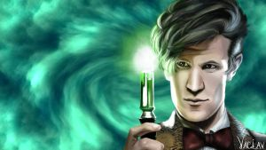 Eleventh Doctor BG by vaclavART