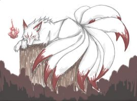 Nine-Tailed Beauty: Coloured by unUnderstandablE