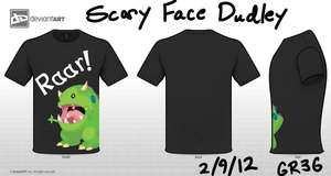 Scary Dudley - Cute Monster T-Shirt by GR3Gthehedgehog