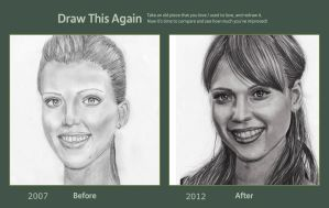 Draw this Again Jessica Alba by acjub