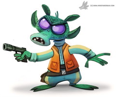 Daily Painting 878. #greedo by Cryptid-Creations