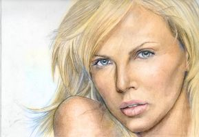 Charlize Theron color by YannWeaponX
