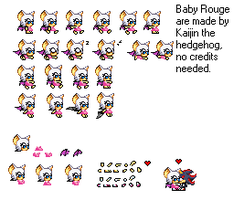 Baby Rogue sprites by kaijinthehedgehog