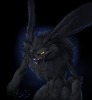 Evil Demon WereRabbit thing by ProjectKuraiOkami