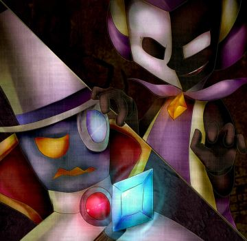Count Bleck and Dimentio by mariogamesandenemies
