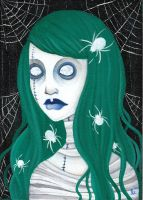 spiders in your hair by zombiepoptarts