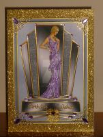 Art Deco Beauty in Purple with Gold Trim by blackrose1959
