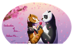 Po and Tigress - Valentine by zeaeevee
