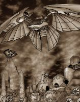 WOTW:The Martian Redoubt,Sepia by LancerAdvanced