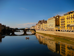 Florence by the Arno River by JJPoatree