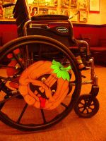 Untitled Halloween Pumpkin for a Wheelchair by sethness