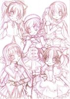 Madoka Magica Charas Pencils by Kawaii-Dream