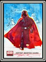 Vader on Hoth by markmchaley