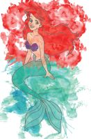 Ariel Watercolor by jmascia
