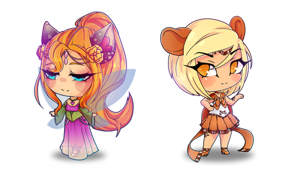 [COMM] Special chibis 1+2 by MissBlubb