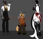 Five Nights At Freddy's OC'S by Slendergirl2012