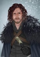 Game of thrones fan art - Jon Snow by ynorka