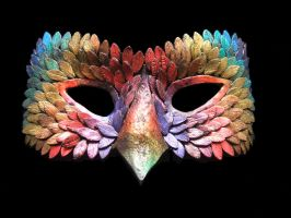 Feather Mask by novicejeweller
