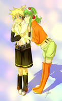 Point Comission Len and Gumi by xXBloodyLunaXx