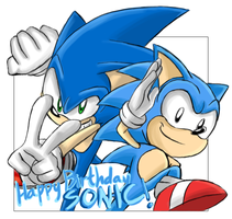 Happy Birthday 22nd Sonic! by SonicSpeedz