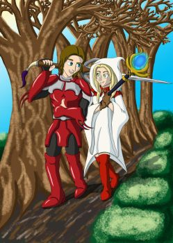 The Red Knight to My White Mage by yugi-chan-0taku