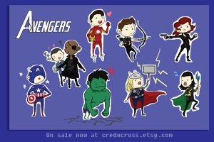 Avengers Assemble Stickers by credocross