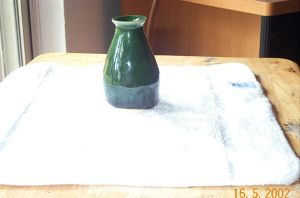39th small green vase by nxellosd