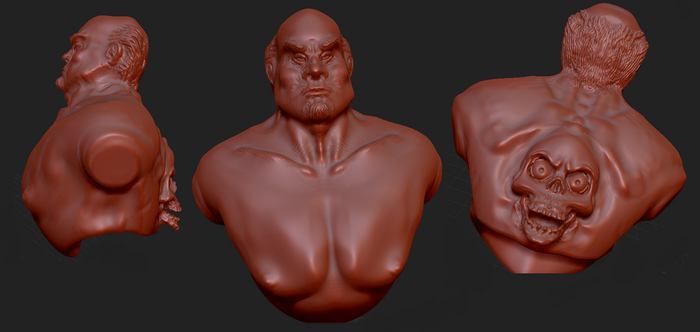 zbrush sculpt asian skull thing by CrowleyGreyscale