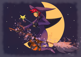 Halloween Witch by RedVioletPanda
