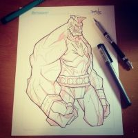 Commish 126 WIP 01 by RobDuenas