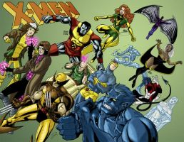 X-Men Jam Colored by ScottEwen