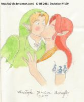 Malon and Link kiss 2 by CJ-DB