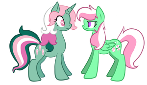 Minty and Fizzy - Staring Contest by Mintatheena