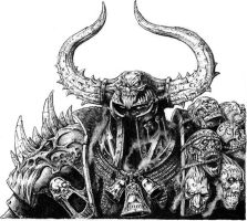 Chaos warlord Warhammer by Wiggers123