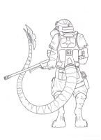 Raptor Sniper, Inked by Illogical-Lynx