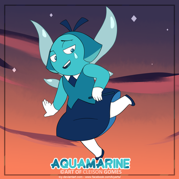 Art Aquamarine Steven Universe by iKiy