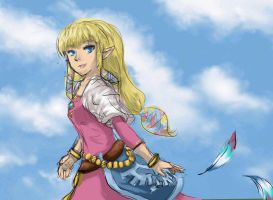 Skyward Sword Zelda by SquirtSapphire