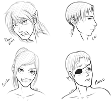 SnK: God Keepers refs by landiddy