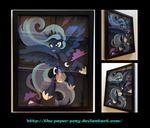 11x14 Frolicking Luna Shadowbox by The-Paper-Pony