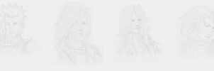 FFVII Crisis Core Characters by RoxyValentine