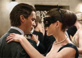 Christian Bale and Anne Hathaway (COLORED) by stonedsour887