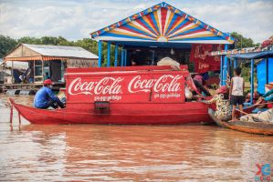 Floating Coca-Cola by sacso